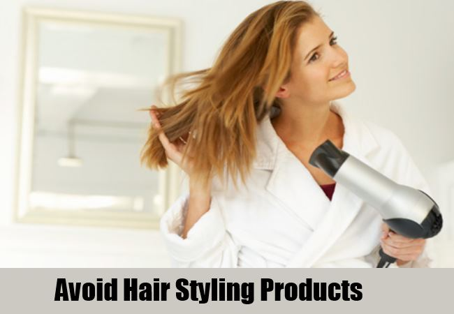 Avoid Hair Styling Product