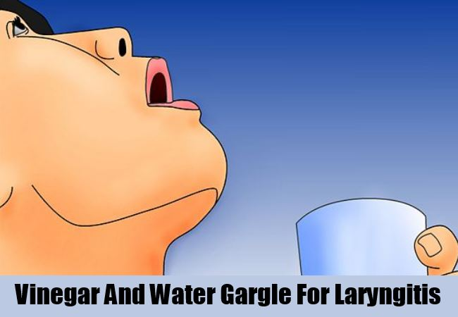 Vinegar And Water Gargle