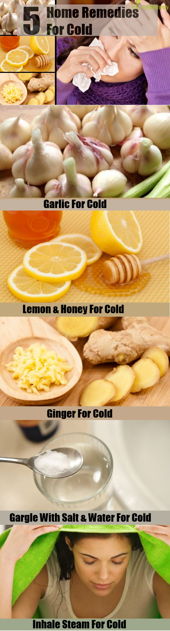 5 Home Remedies For Cold