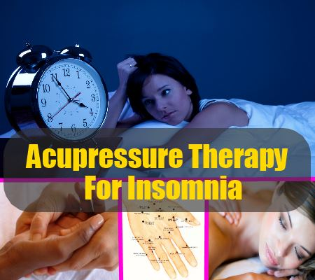acupressure therapy for insomnia