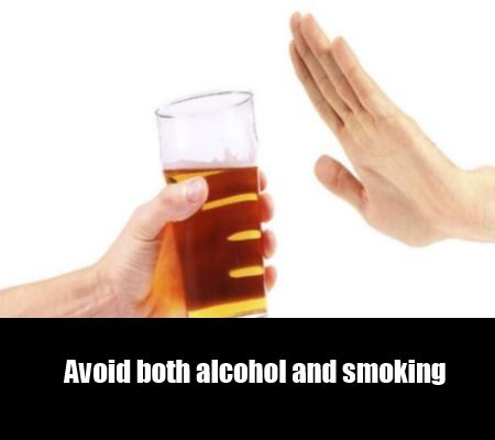 quiet alcohol and smoking