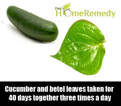 Cucumber And Betel Leaves