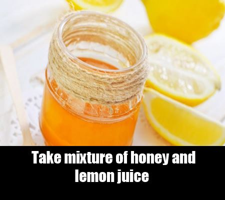 Lemon and honey mixture