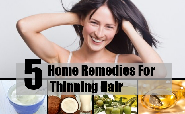 5 home remedies for thinning hair - natural treatments & cure for