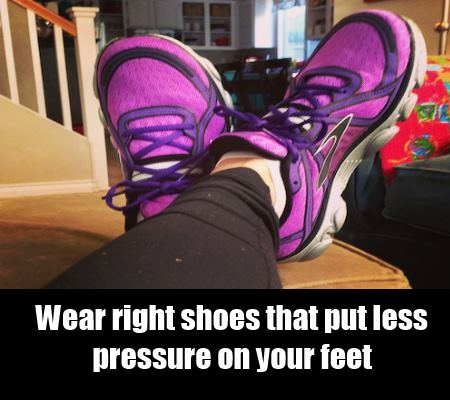 wear right shoes