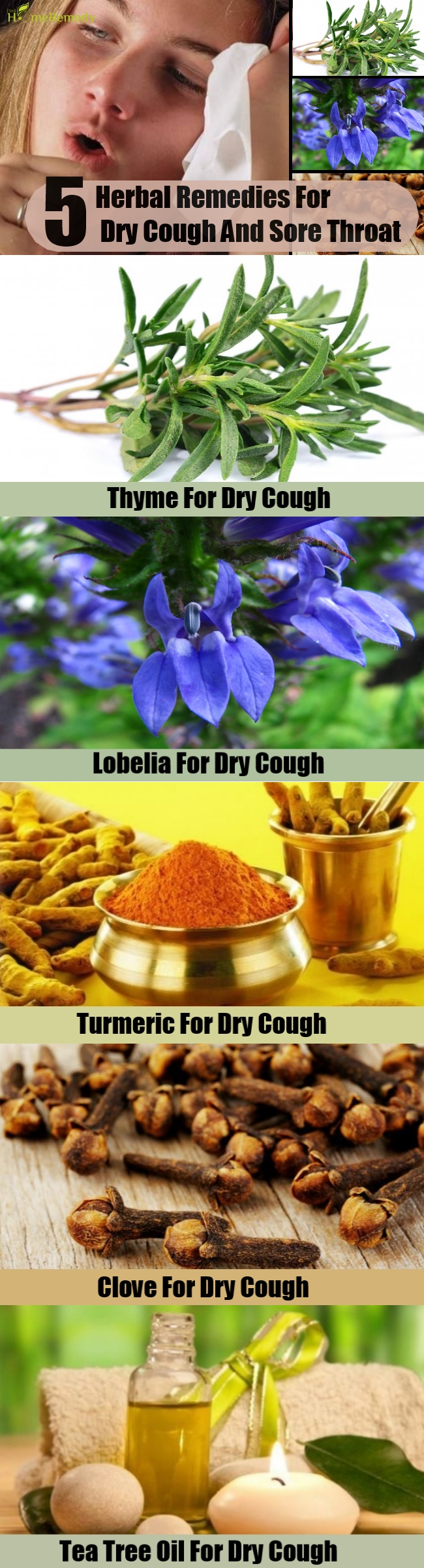 5 Herbal Remedies For Dry Cough And Sore Throat