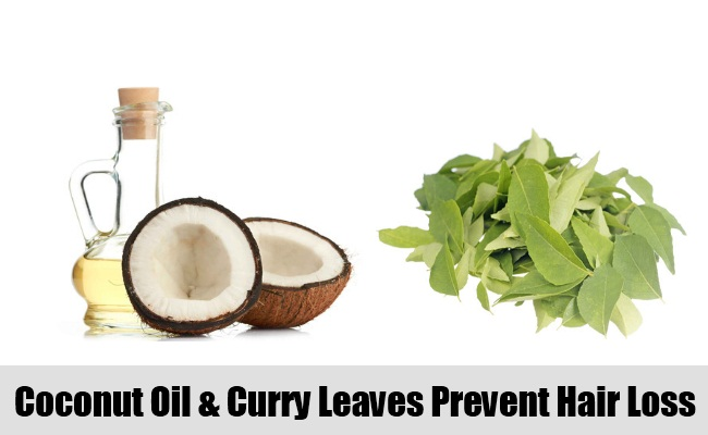 Coconut Oil And Curry Leaves
