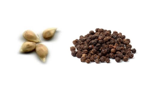Lime seed and black pepper