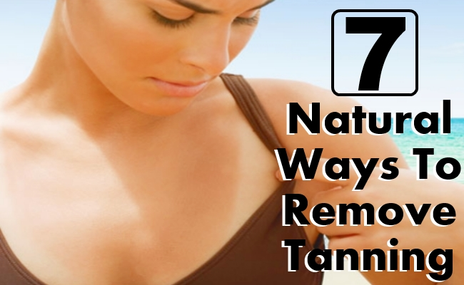 Natural Ways To Remove Tanning