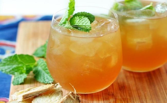 Spicy Iced green tea