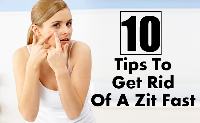 Get Rid Of A Zit Fast