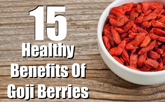 Healthy Benefits Of Goji Berries
