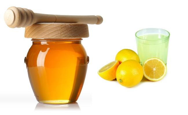 Honey with lemon juice