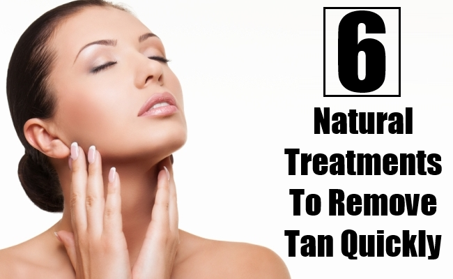Natural Treatments To Remove Tan Quickly