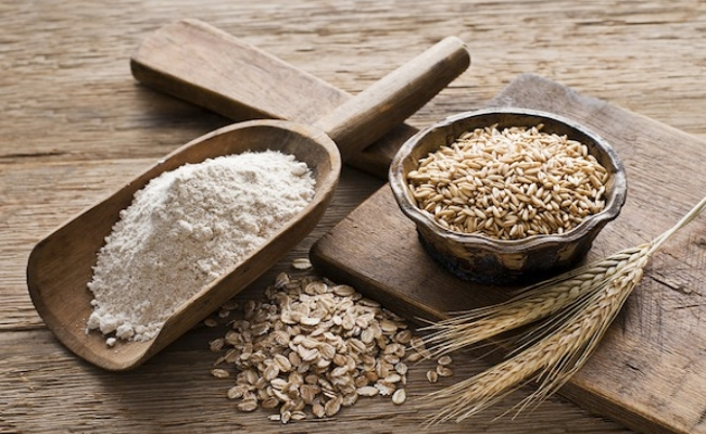 Swap flour with grains