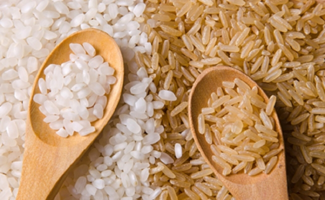 Swap white rice with brown rice