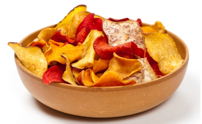 potato chips with vegetable chips