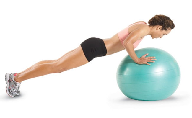 Balancing Ball Push Up