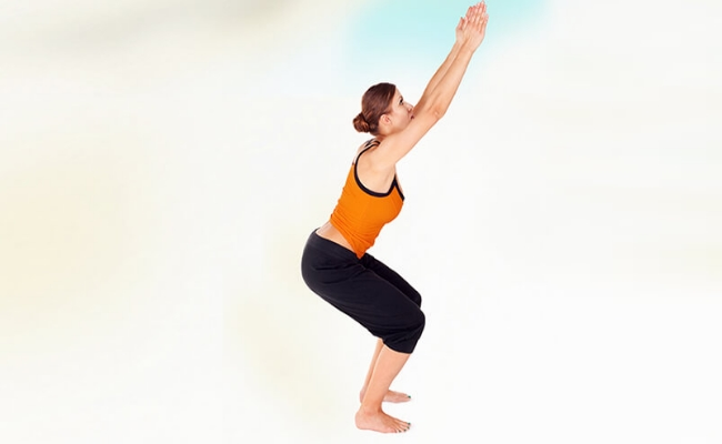 Chair Pose Into Forward Bend