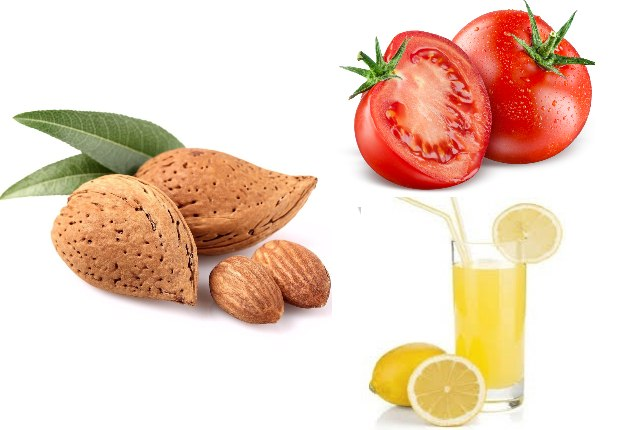 Almond With Tomato And Lime Juice