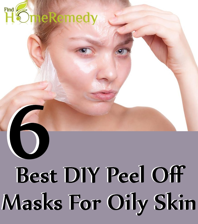 DIY Peel Off Masks For Oily Skin
