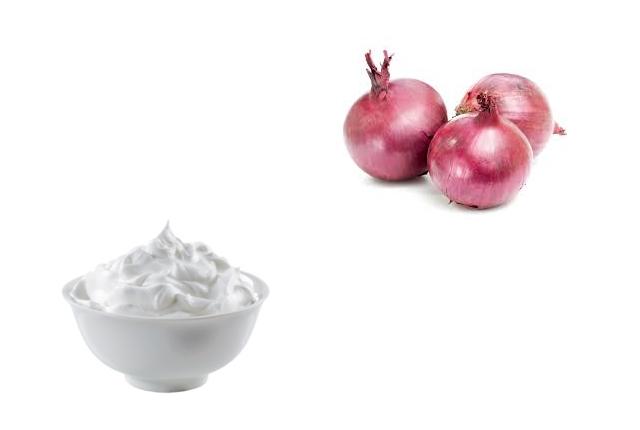 Onion With Milk Cream