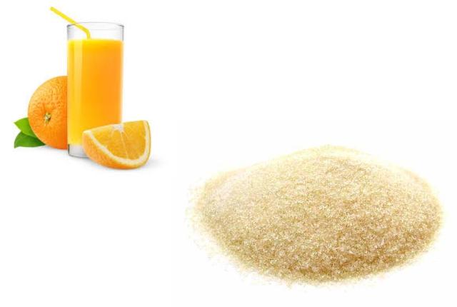 Orange Juice With Gelatine