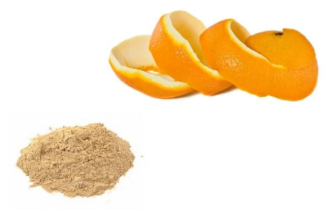 Orange Peels With Sandalwood Paste