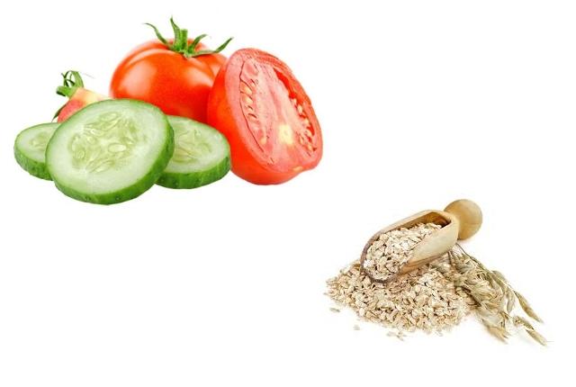 Cucumber, Tomato And Oatmeal Mask