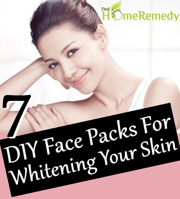 DIY Face Packs For Whitening Your Skin