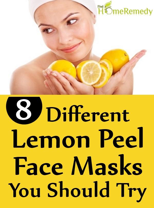 Lemon Peel Face Masks