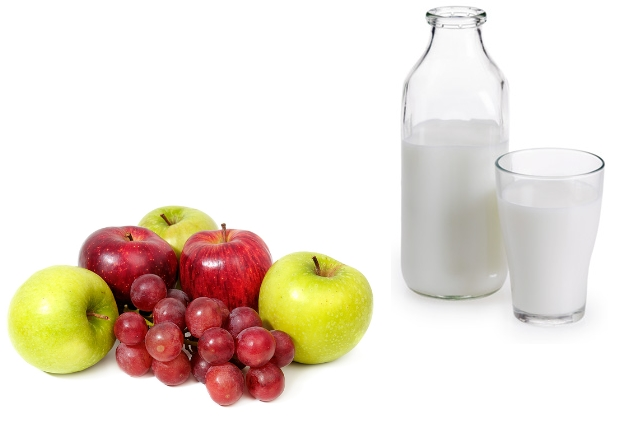 Grapes, Apple And Milk Mask