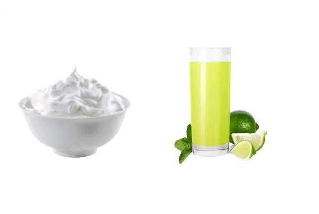Milk Cream and Lime Juice Face Pack