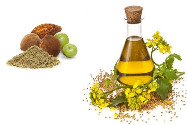 Mustard Oil And Triphala Powder Mask