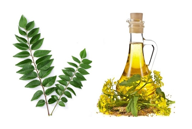 Mustard Oil And Curry Leaf Mask