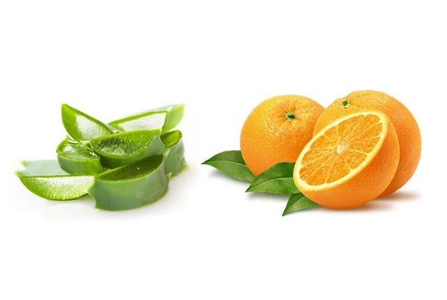 Orange Juice And Aloe Vera Mask
