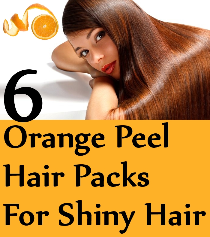 Orange Peel Hair Packs for Shiny Hair