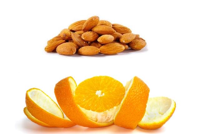 Orange Peel With Almonds