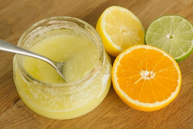 Orange Peel Powder Salt Lemon Juice Scrub