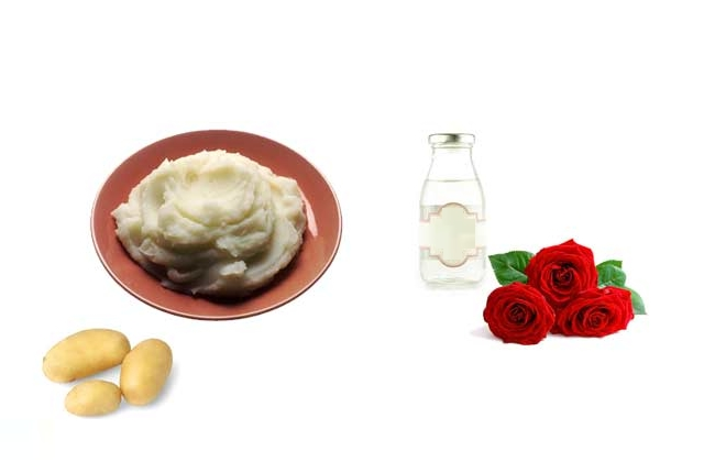 Potato And Rose Water Bleach