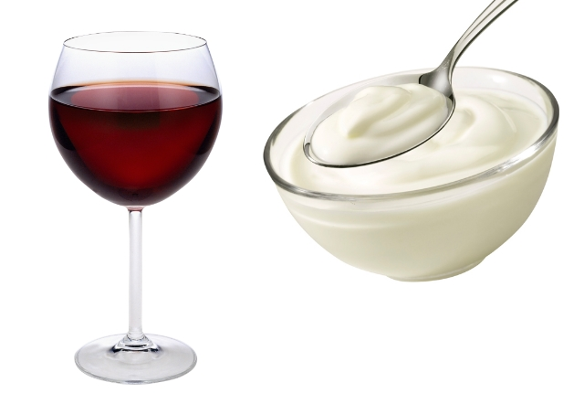Red Wine And Yogurt