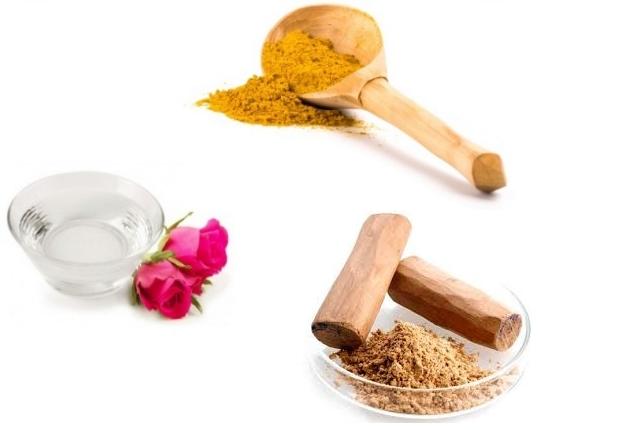 Rosewater, Turmeric And Sandalwood Powder