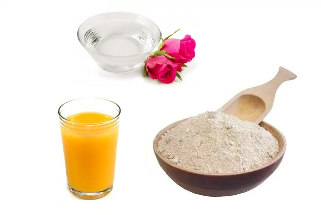 Rosewater With Orange Juice And Fuller's Earth