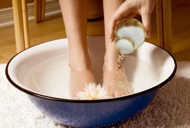 Salt Water Foot Bath