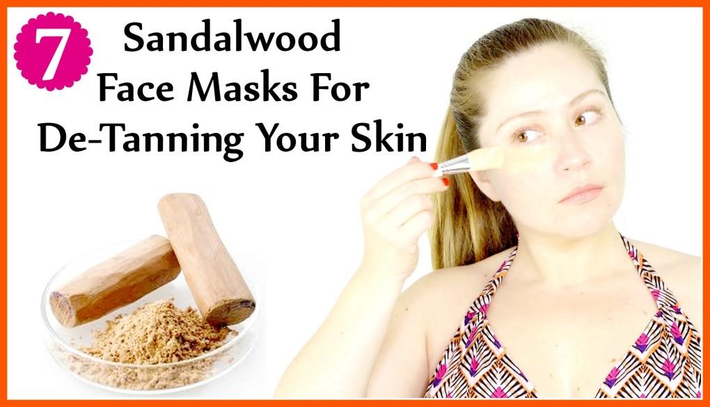 Sandalwood Face Masks For De-Tanning Your Skin