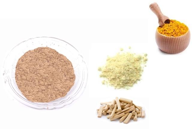 Sandalwood Powder, Gram Flour, And Turmeric