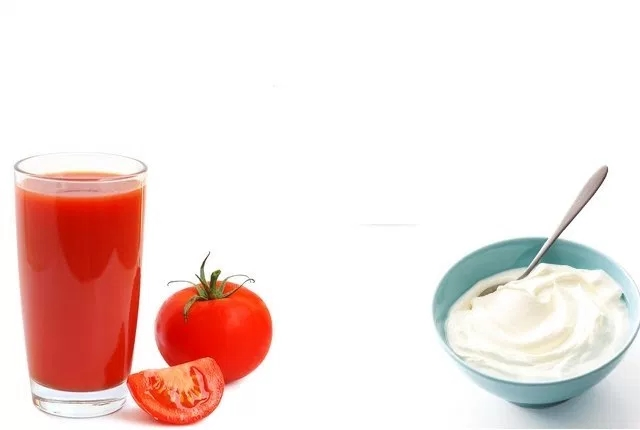 Yogurt And Tomato Juice