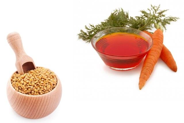 Carrot Oil And Fenugreek Hair Mask