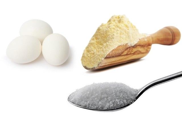 Egg White, Sugar And Corn Flour Mixture