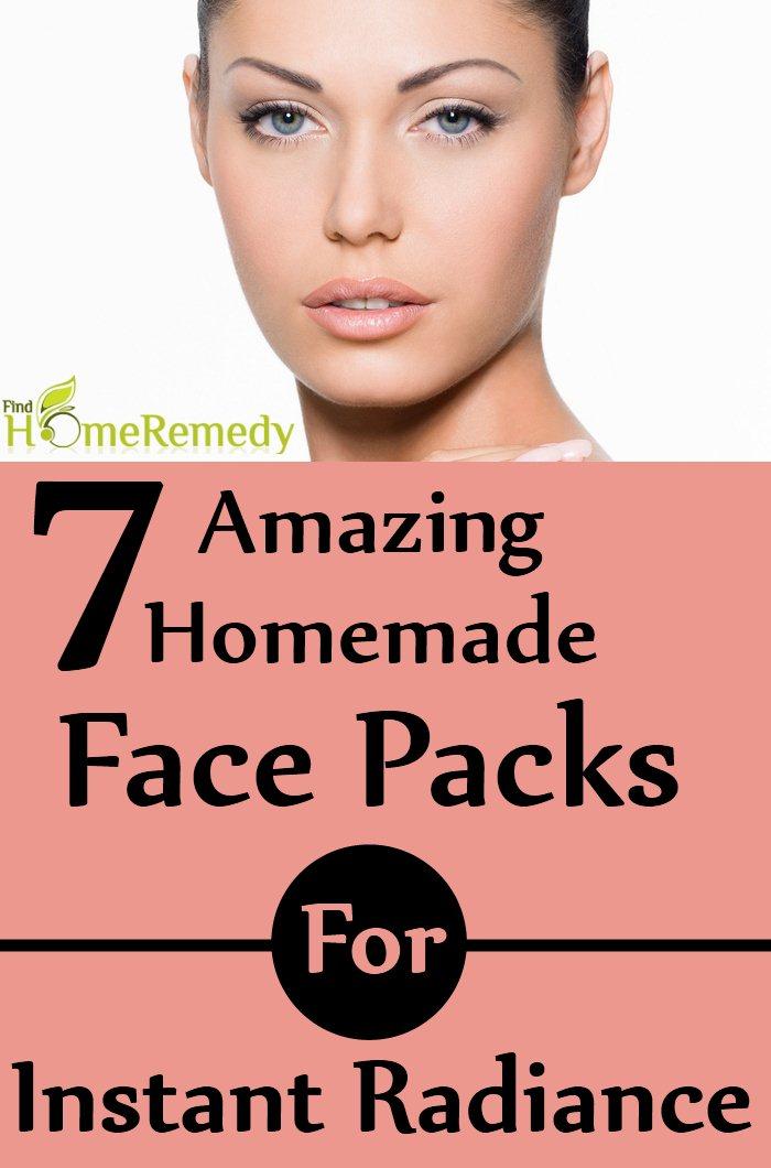 Homemade Face Packs For Instant Radiance